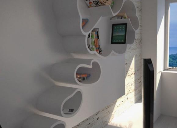 かわいい吹き出し型の収納棚の写真2