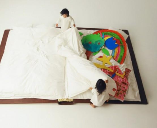 可愛らしい本の形をしたベッドの写真1