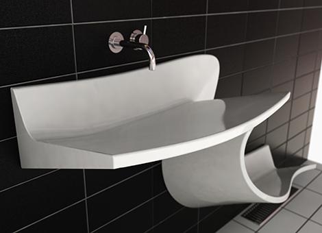 滑り台のような洗面の写真1