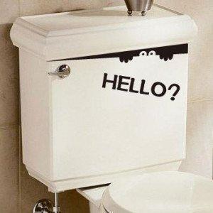 トイレ覗き見ウォールステッカーHelloの写真1