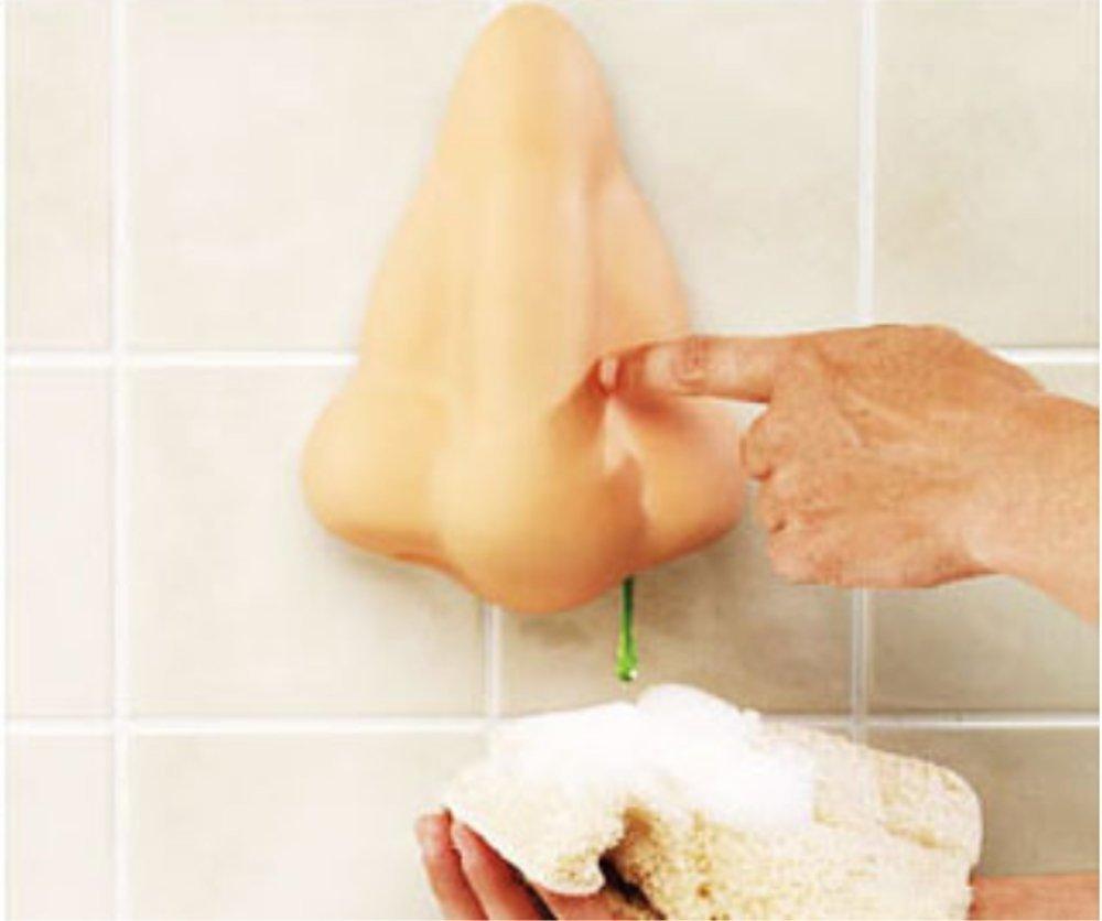 鼻水のようにシャンプーやボディソープを出すノーズディスペンサーの写真1