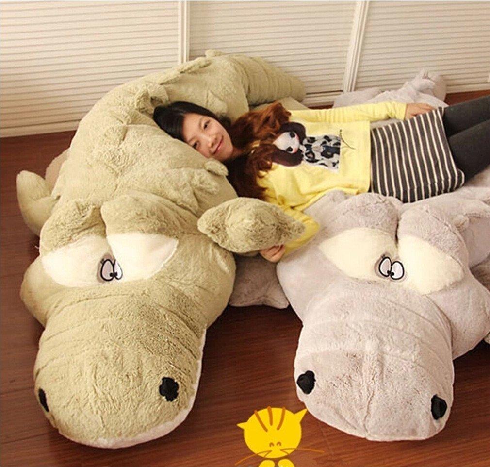 巨大ワニ&鰐の抱き枕ぬいぐるみ!特大2色160cmの写真1